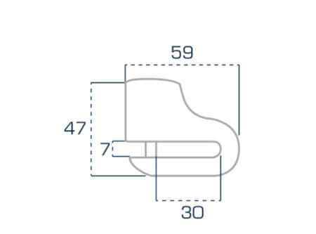 Blokada tarczy hamulcowej URBAN Diskmini trzpień 5mm