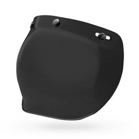 Kask BELL Custom 500 black matt z wizjerem bubble dark smoke