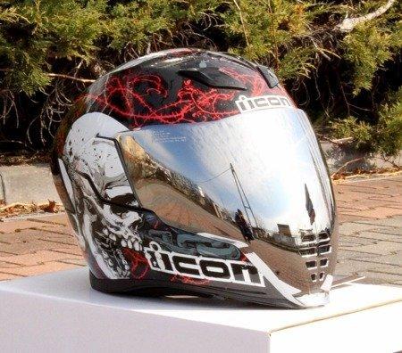 Kask ICON AIRFLITE Skull silver mirror