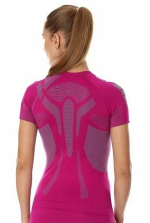 Koszulka termoaktywna BRUBECK Dry short damska fuksja