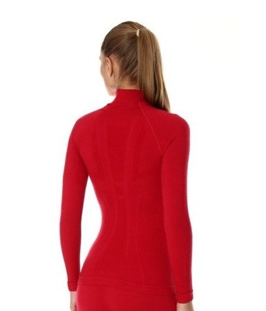 Koszulka termoaktywna damska Brubeck MERINO Extreme Wool malina