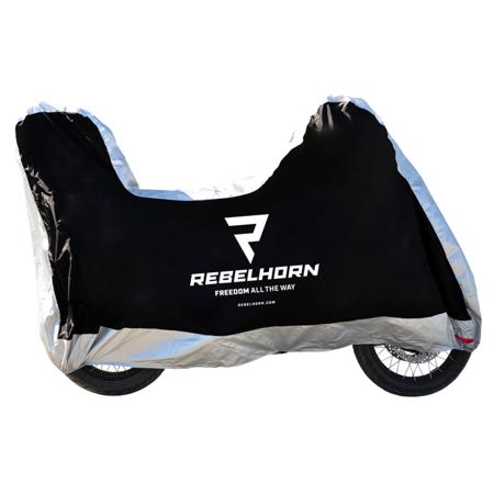 Pokrowiec na motocykl REBELHORN Cover II Top Box - wodoodporny z miejscem na kufer rozmiar L