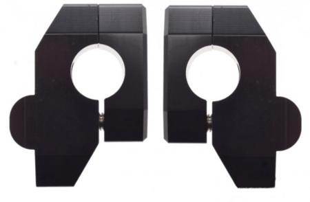 Risery podwyższenie kierownicy 26 mm z przesunięciem  - czarne