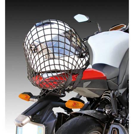 Siatka bagażowa motocyklowa LAMPA - czarna 42 x 43