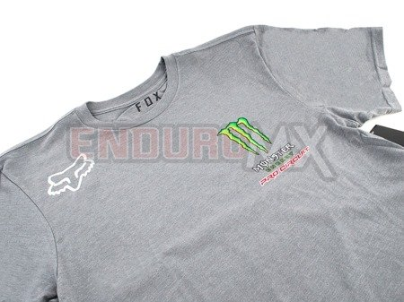 T-shirt FOX MONSTER Pro Circuit szara
