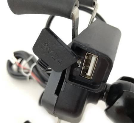 Uchwyt na telefon smartphone z ładowarką USB