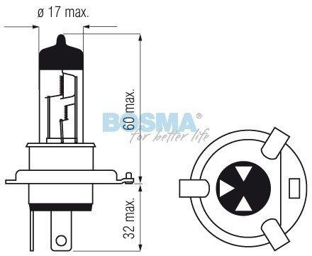 Żarówka BOSMA H4 - HS1 12V 35/35W
